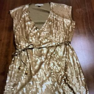Michael Kors Gold Evening/Party Dress